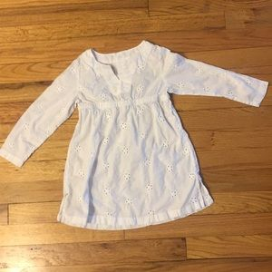 Girl's white eyelet dress